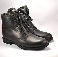 Классические утепленные зимние мужские ботинки на меху Rosso Avangard Carlo Berz черные, фото 1
