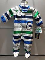 Слипер Флисовый Carter's Человечек  Пижама детская для Новорожденного
