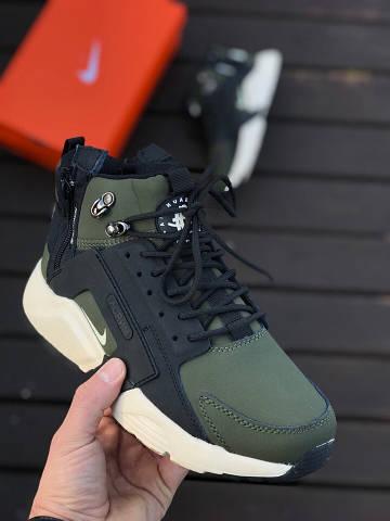 c24f22626b74 Мужские Зимние Кроссовки Nike Air Huarache x Acronym City MID Leather Army  Winter (Реплика Люкс)