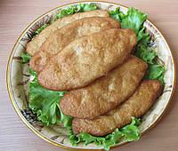 Пирожки с картофелем, грибами и луком жареные