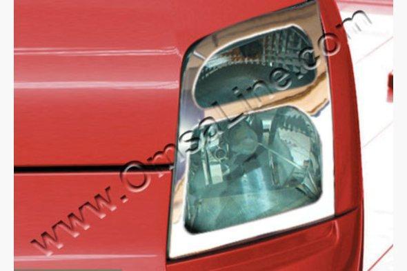 Накладки на фары (2 шт, нерж.) - Ford Connect 2006-2009 гг. / Ford Connect 2010-2014 гг.