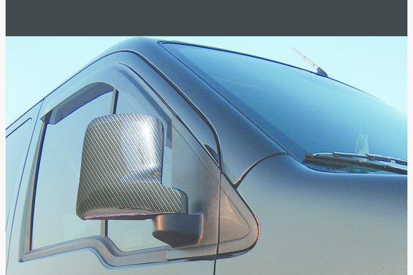 Накладки на зеркала под карбон (2 шт, пласт) - Ford Connect 2006-2009 гг.