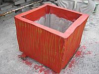 Квадратный вазон бетонный, уличный цветник ваза из бетона, кашпо, клумба садово парковая цветочница. Харьков.