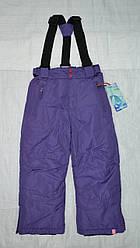 Штаны зимние на подтяжках для девочки фиолетового цвета (QuadriFoglio, Польша)