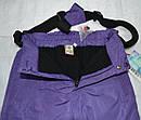 Штаны зимние на подтяжках для девочки фиолетового цвета (QuadriFoglio, Польша), фото 6