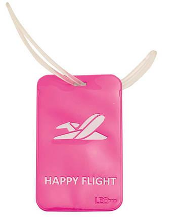 "Бейдж багажный ""Leo"" (114*69) L6125 розовый, фото 2"
