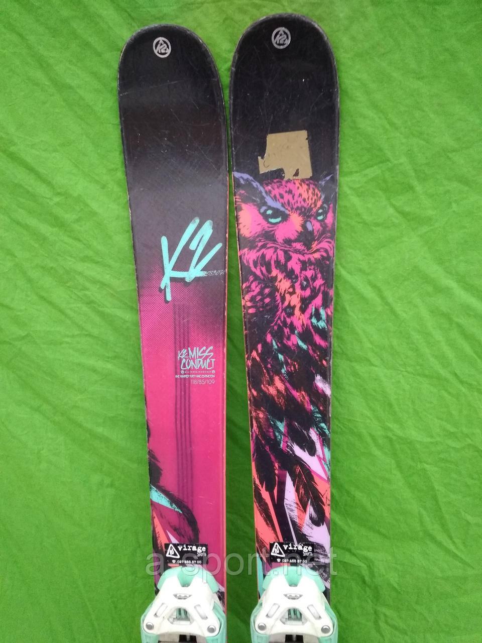 K2 Missconduct 149 см гірські лижі, фрістайл, твін-тіп, 2015p