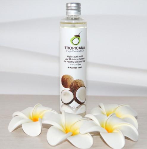 """Кокосовое масло  TROPICANA """"Тропикана"""" для волос, лица и тела 100 ml  Тайланд"""
