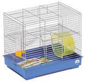 Клетка для мелких декоративных грызунов Микки с колесом  37*25*30, хром