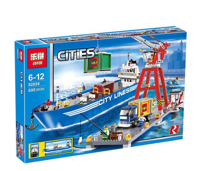 """Конструктор Lepin 02034 """"Городской порт"""" (Lego City 7994)"""