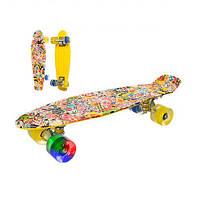 Детский Скейт (Пенни борд)  MS 0748-6, скейтборд