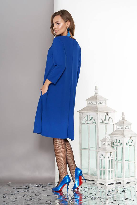 Красивое женское платье трапеция электрик, фото 2