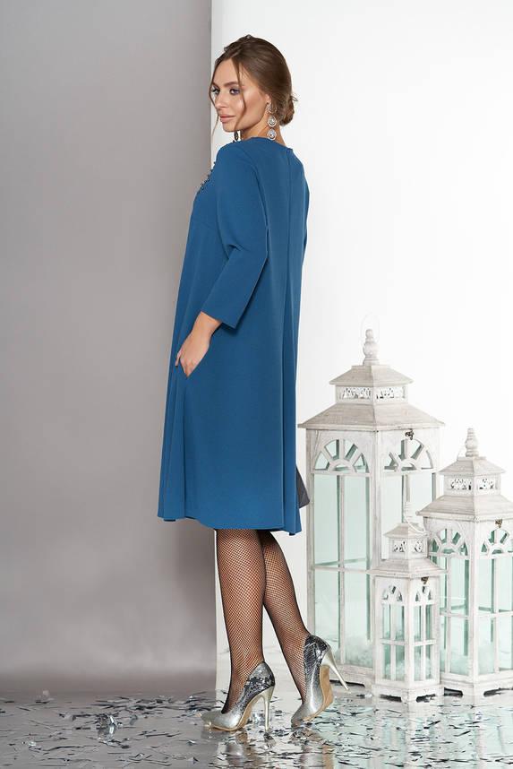Красивое женское платье трапеция бирюза, фото 2