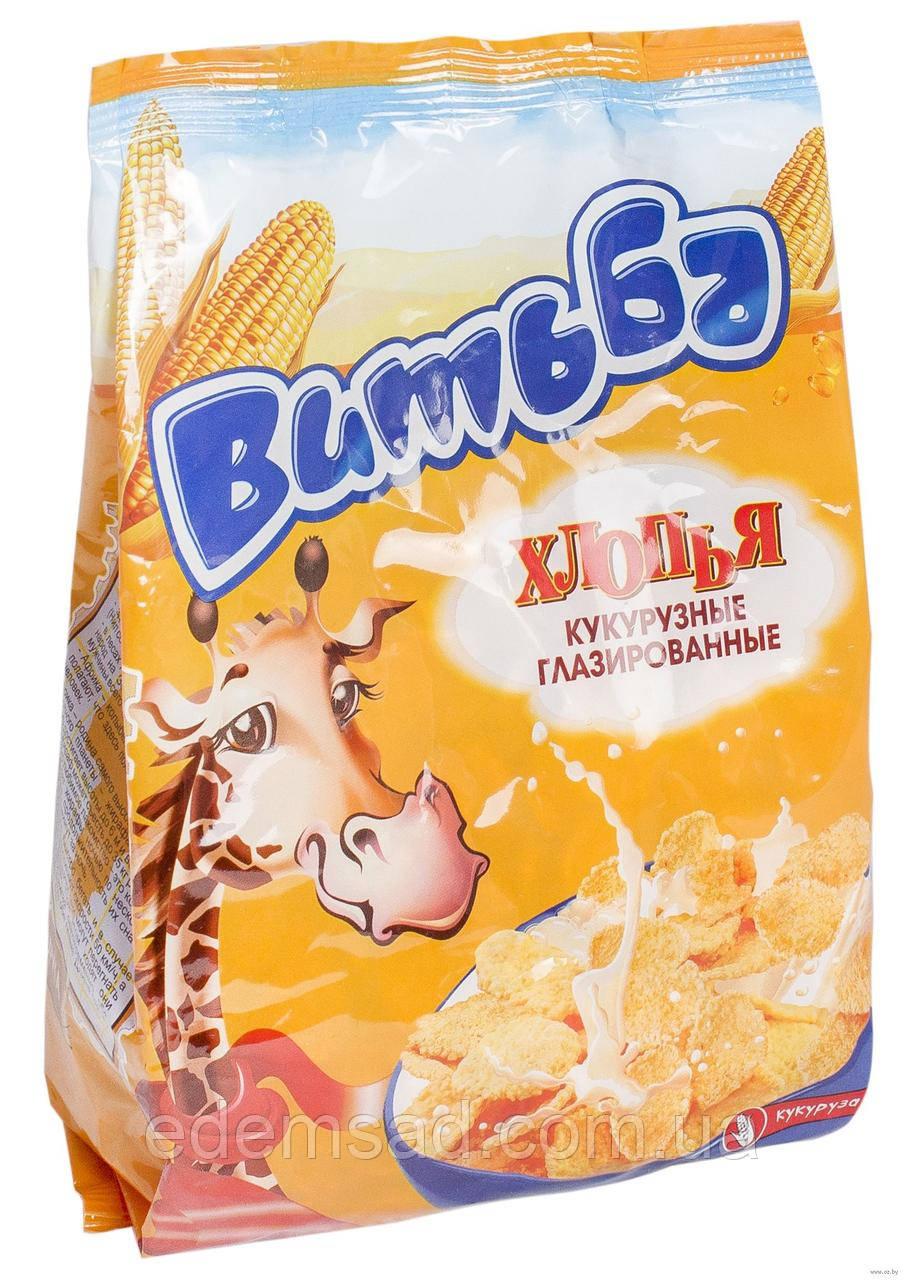 """Пластівці кукурудзяні глазуровані """"Витьба"""", 330г"""
