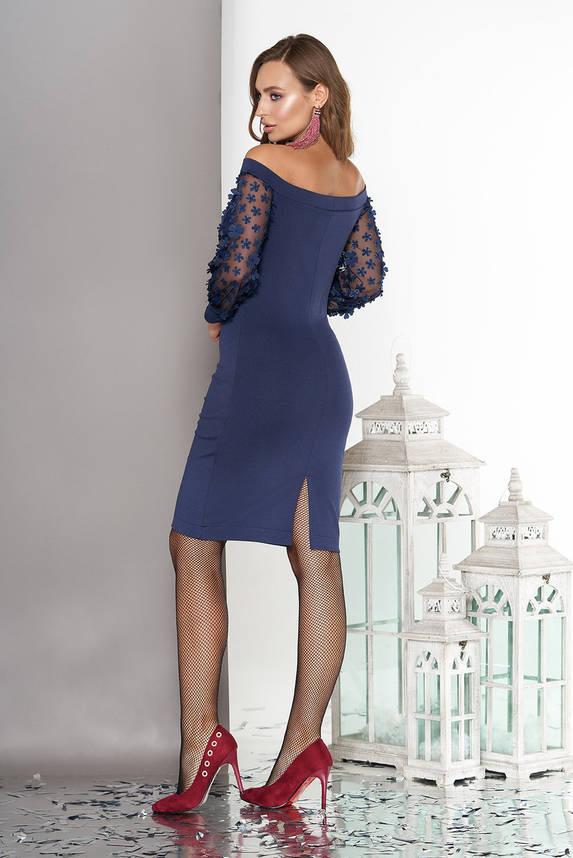 Красивое вечернее платье на Новый Год синее, фото 2