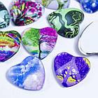 Кабошоны Стеклянные, Сердце, Цвет: Разноцветный, Размер: Длина 16мм, Ширина 16мм, Толщина 5мм, (УТ0028653)