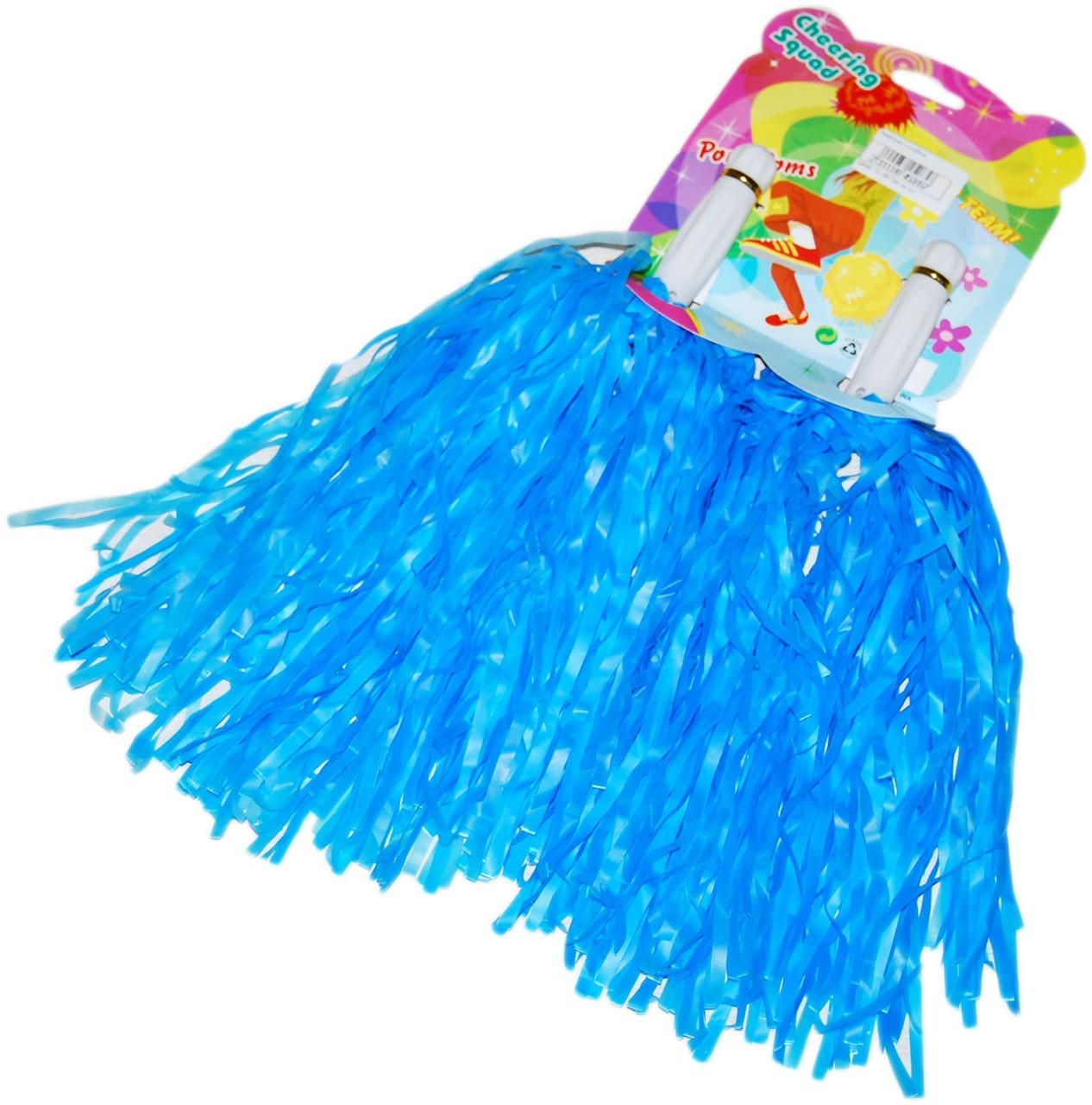 Помпоны болельщика Матовые Синие для черлидинга, махалки для группы поддержки, султанчики