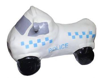 """Резиновый прыгун """"Полицейская машина"""" (белая)"""