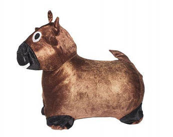 """Резиновый прыгун """"Корова"""" (коричневая)"""