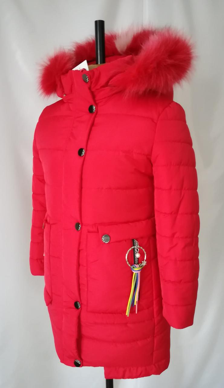 Зимние пальто для девочки подростка от производителя 32-40  красный