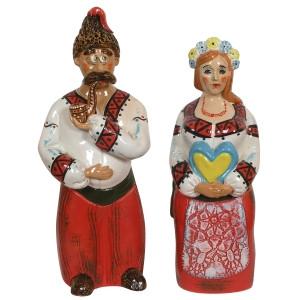 Статуэтки керамические Пан та Панянка