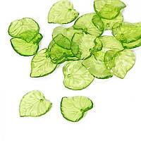 Подвески Акрил Лист Прозрачные, Цвет: Зеленый, Размер: 15х15х2мм, Отверстие 1.5мм, около 80шт/25г, (УТ0030483)