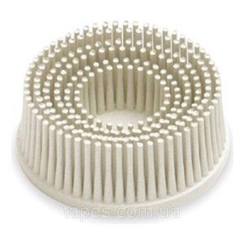 Зачистной круг Bristle с креплением Roloc, белый, градация - тонкая, диск-щётка 120, 3М
