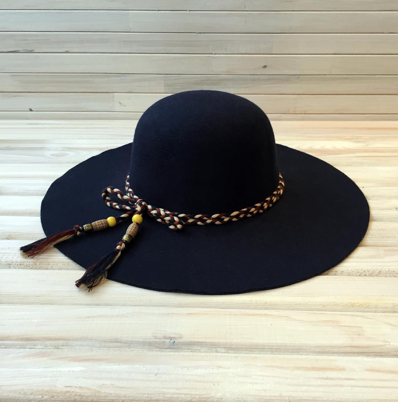 99d7d04dcf14 Женская шляпа с широкими полями весенняя (осенняя) , фетровая шляпка