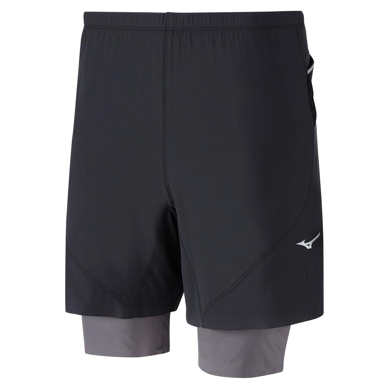Шорты для бега Mizuno Endura 7.5 2in1 Short J2GB8528-09