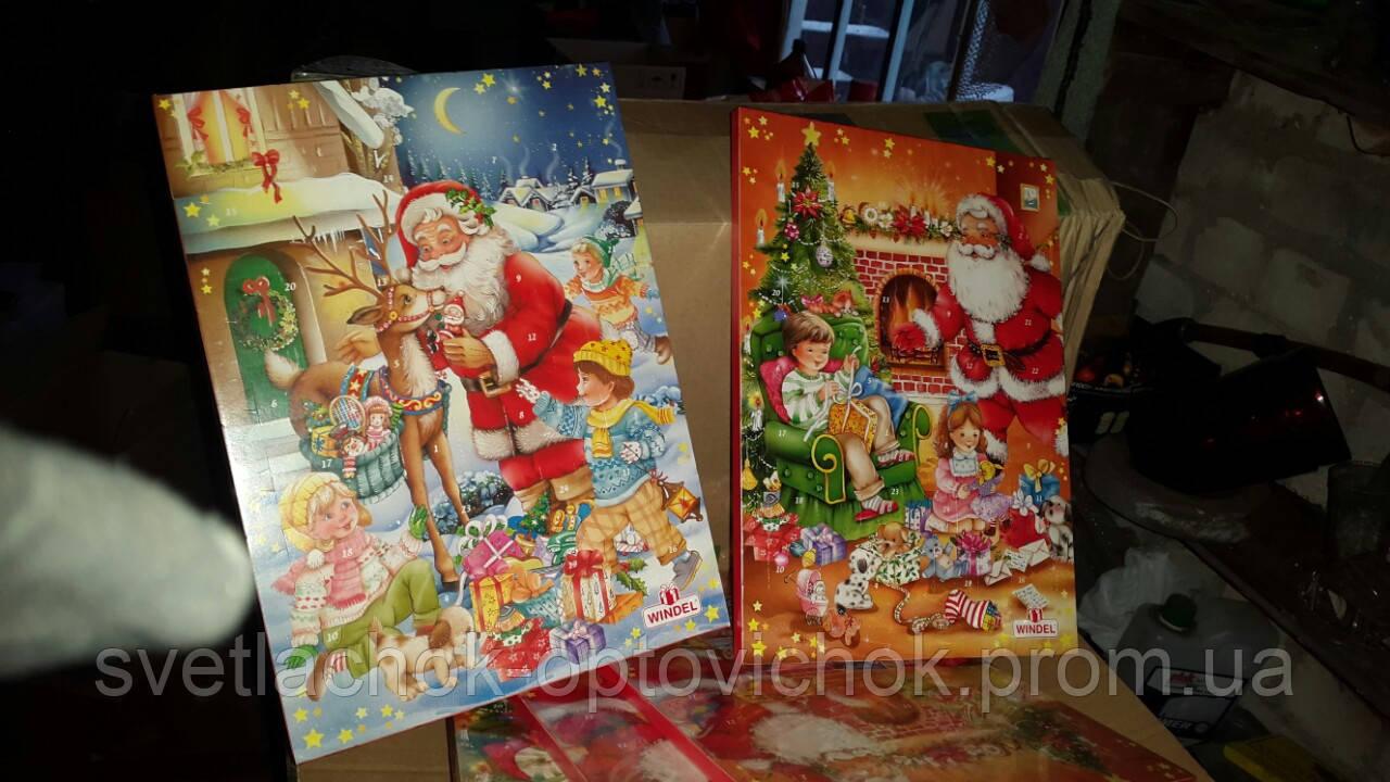 Windel Weihnachtskalender.адвент календар 75 г рождественский шоколад Adventskalender Windel 75g