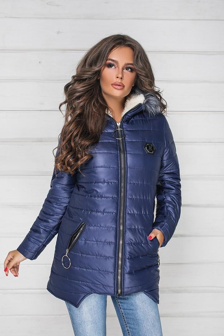 3f5c6b721d0 Женская очень тёплая на овчине куртка ( плащевка на синтепоне ...