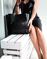 Черная сумка шопер  АРТ.01012, фото 1