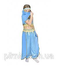 Дитячий карнавальний костюм Жасмин Східна Красуня для дівчинки 5-8 років Костюм Танцівниці 344, фото 2