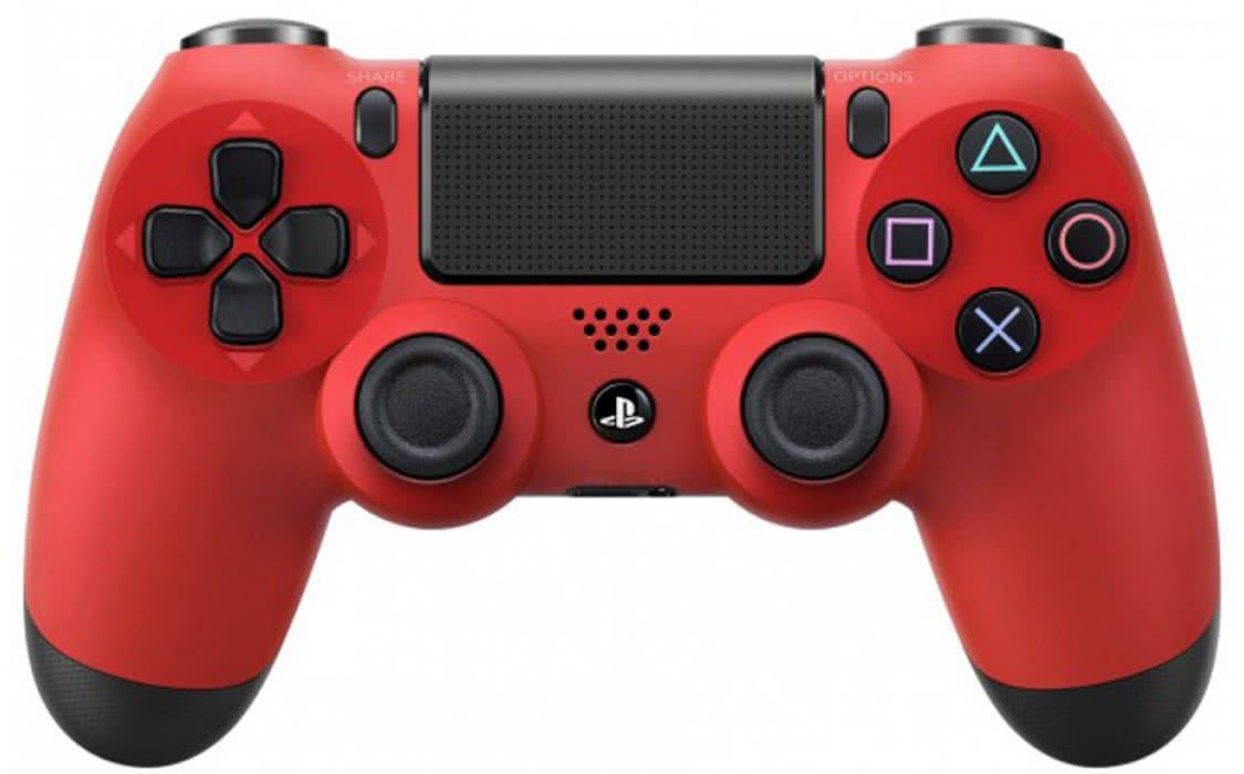 Геймпад джойстик беспроводной Sony PS4 Dualshock 4 V2 Red. Оригинал