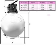 Фильтр Hayward SwimPro VL270T (13.6 м3/ч, D685) для бассейна с объёмом воды до 55 м3, фото 3