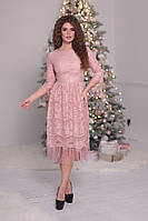 Платье гипюровое с бахромой в расцветках  26196, фото 1