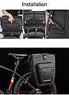 Сумка на багажник King водонепроницаемая черная, фото 6