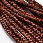 Шнур Полиэстер, с резиновым основанием, Цвет: Коричневый, Размер: Диаметр 5мм, около 45м/связка, (УТ100005641)