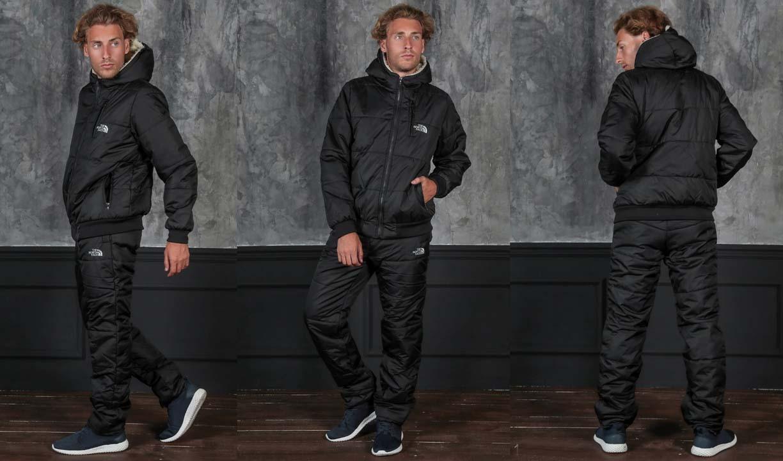 9ff22cfb Мужской зимний спортивный костюм синтепон + мех 1061