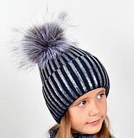 Детская шапка для девочек на зиму