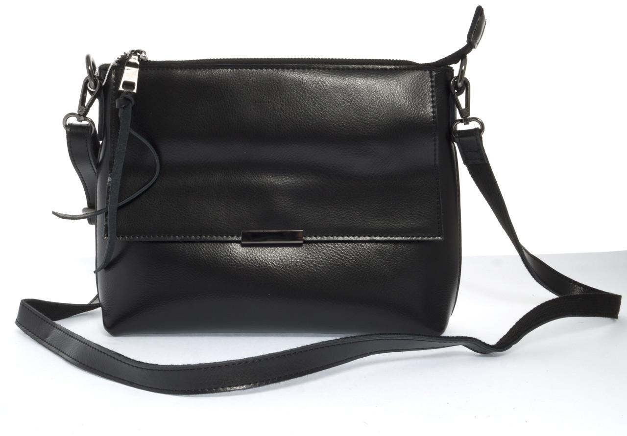Компактная стильная кожаная женская сумка Solanaart. 0634