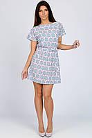 Платье летнее Jill 31197-18 44 Бирюзово-сиреневый