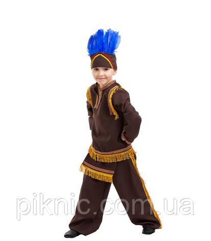 Детский костюм Индеец для мальчиков 4,5,6,7,8,9 лет. Новогодний карнавальный маскарадный костюм Индейца, фото 2