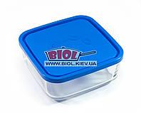 Посуд скляний 1,8 л квадратний з пластиковою кришкою Borgonovo