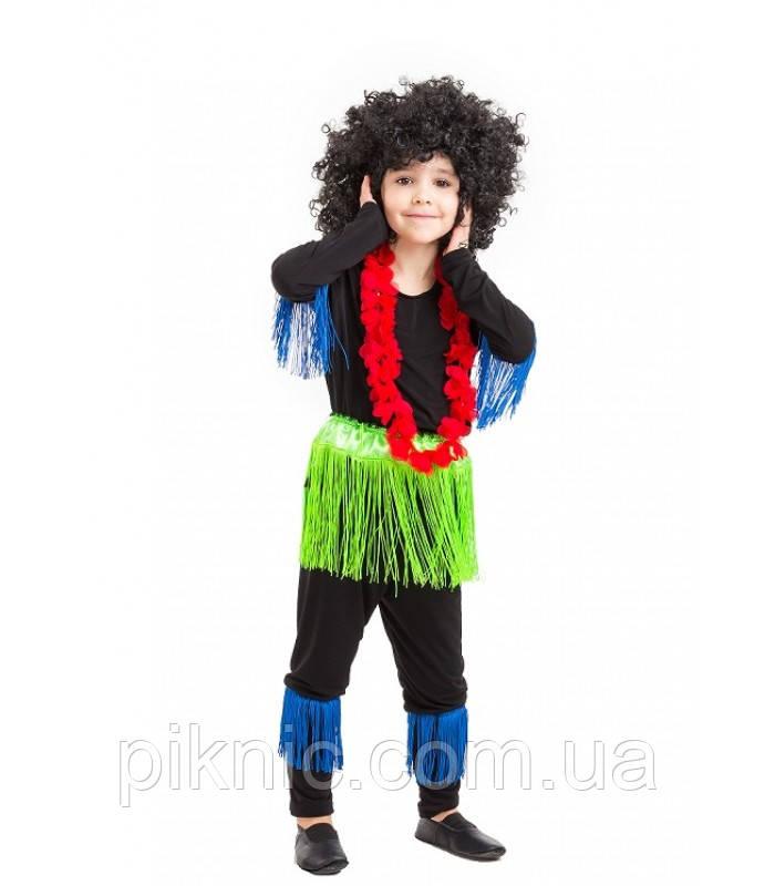 Костюм Папуас 5-9 лет Детский новогодний карнавальный костюм Африканец для мальчиков 344