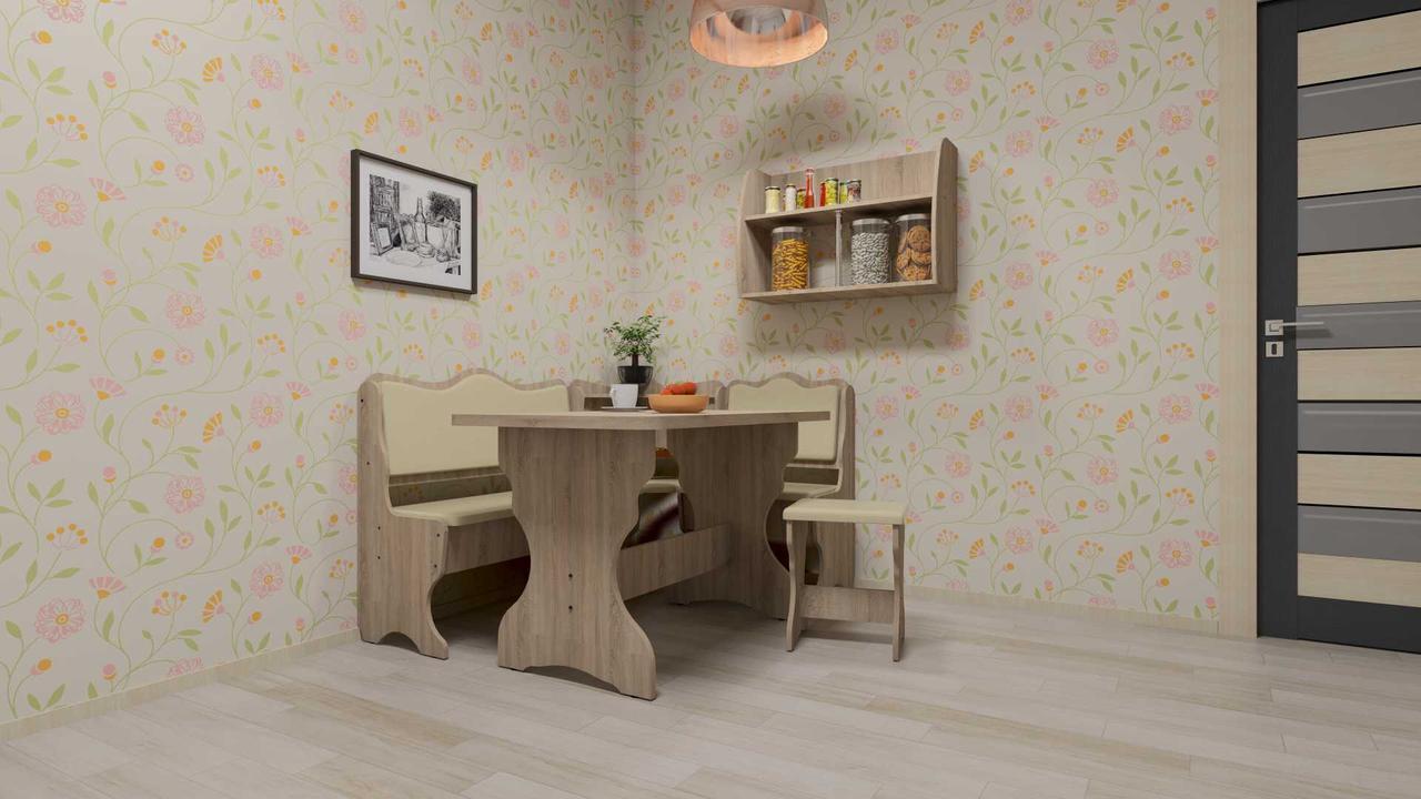 Кухонный уголок Дакар  (стол КС 3 раскладной+диван+2 табурета Т2)