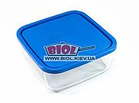 Посуд скляний 3,2 л квадратний з пластиковою кришкою Borgonovo