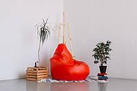 Красное кресло-мешок груша 120*90 см из кож зама Бум