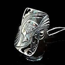 Серебряное кольцо Нефертити размер 18