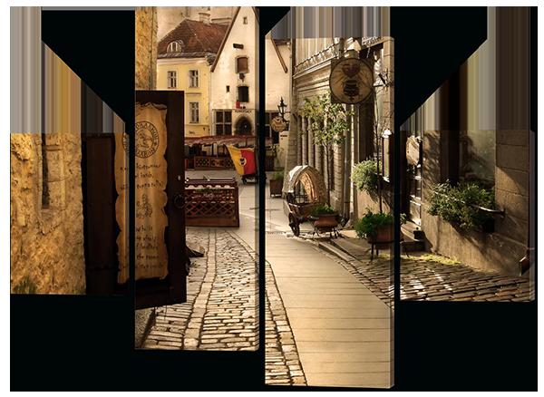 Модульная картина Interno Холст Улица Европы 106X77см (R317S)